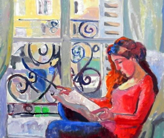 GIRL READING IN PARIS