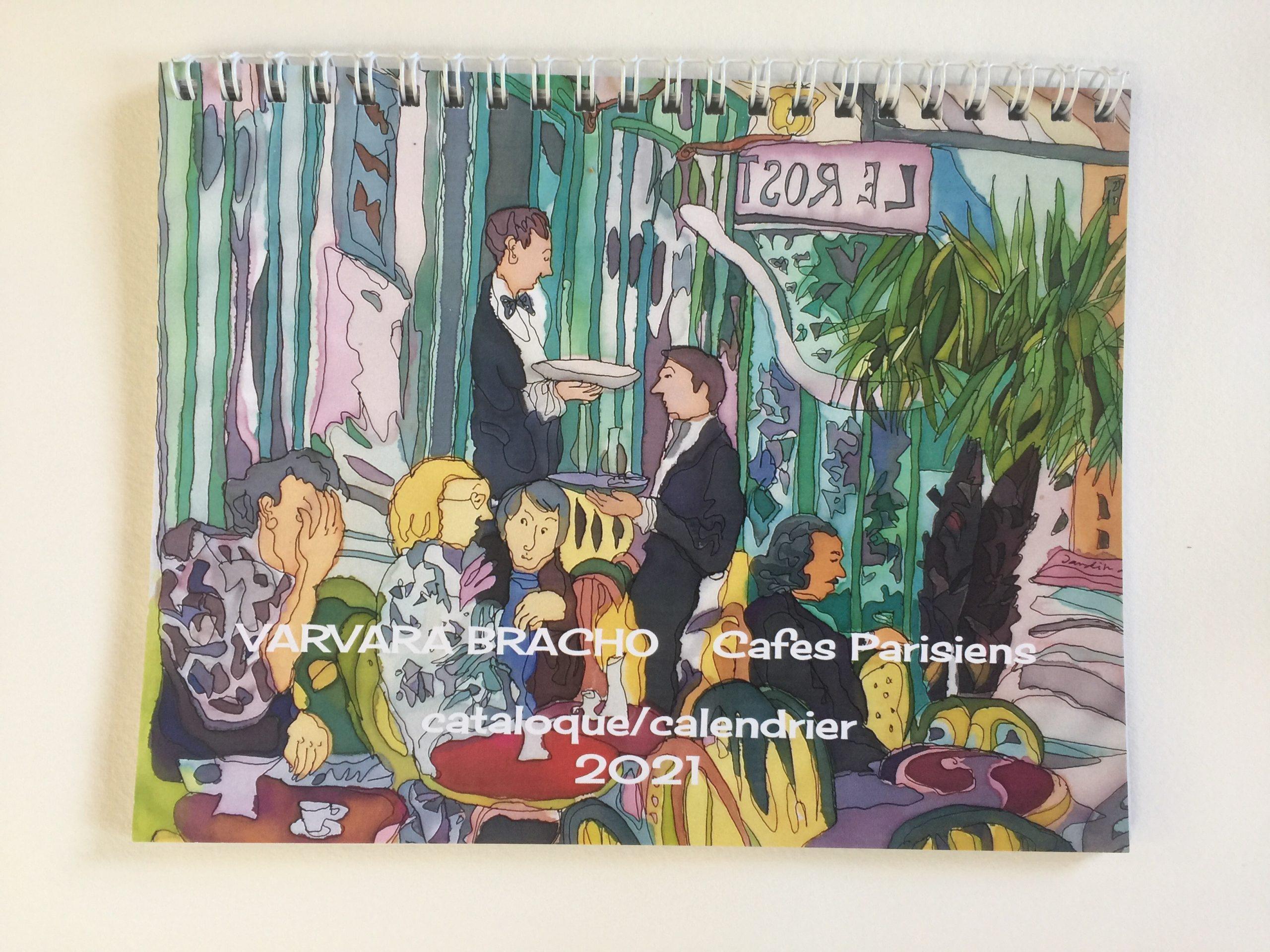 Art Gallery Varvara Bracho » Calendar / catalog 2021 Parisian Cafes