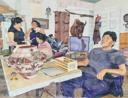 Joseph Latoma and his family